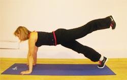 Подъем прямой или согнутой ноги назад