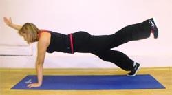 Вытяжение руки  вперед +  подьем противоположной  ноги